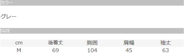 【中古ブランド品】Championグレーナイロンジャケットのサイズ表